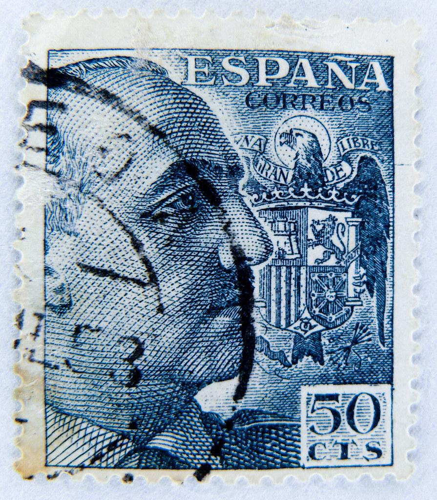 sello espana 50 cts general franco  u897f u73ed u7259  u90ae u7968 po u0161tanske marke