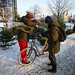 Christmas Tree Bicycle - Winter Cycling in Copenhagen