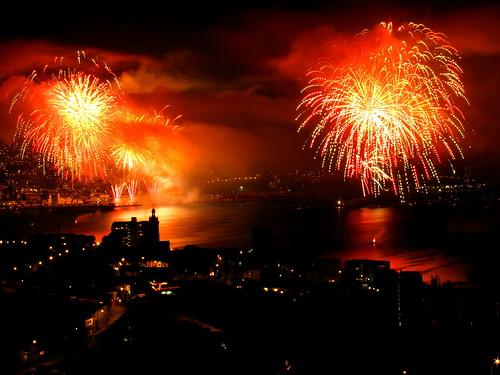 Año nuevo en Valparaíso