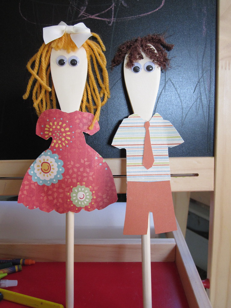 wooden spoon puppets   These were used in my interview for ...