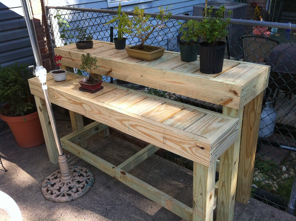 Bonsai Display Bench | Another view; I still need to add ...