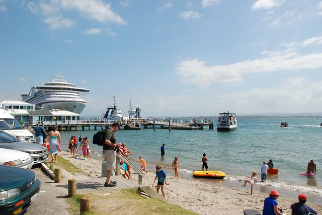 The harbour beach in Tauranga, NZ.