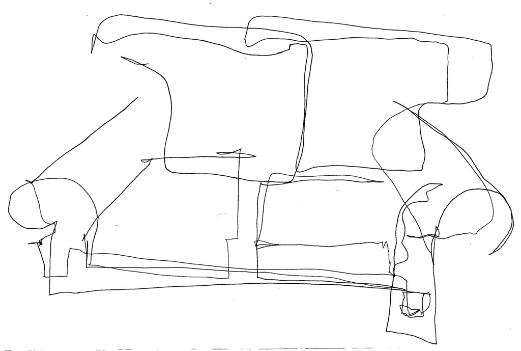 Contour Line Drawing Jobs : The couch blind contour a one line pen and ink