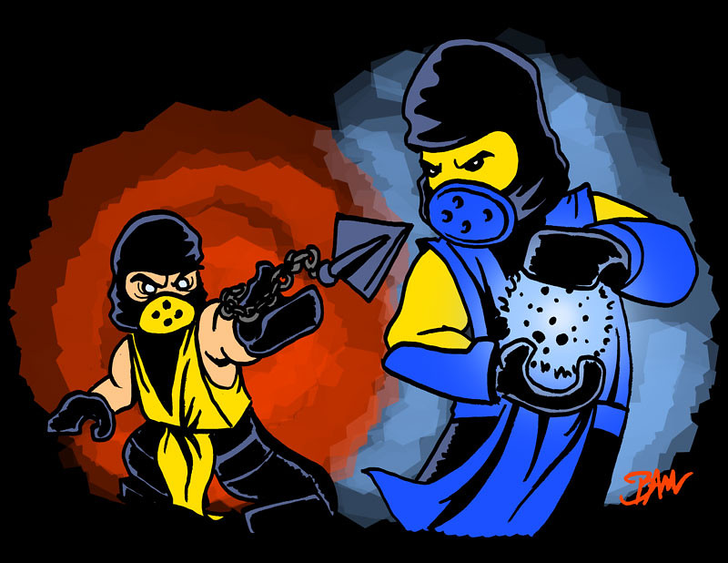 Lego Kombat | Artwork drawn by Hound Knight using the ...