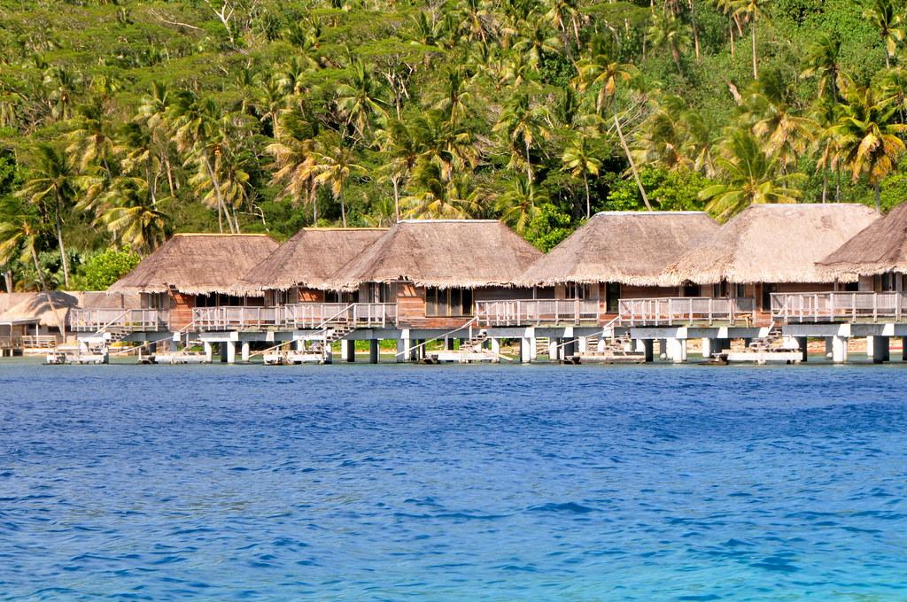 Bora Bora French Polynesia The Group Of Deep Overwater