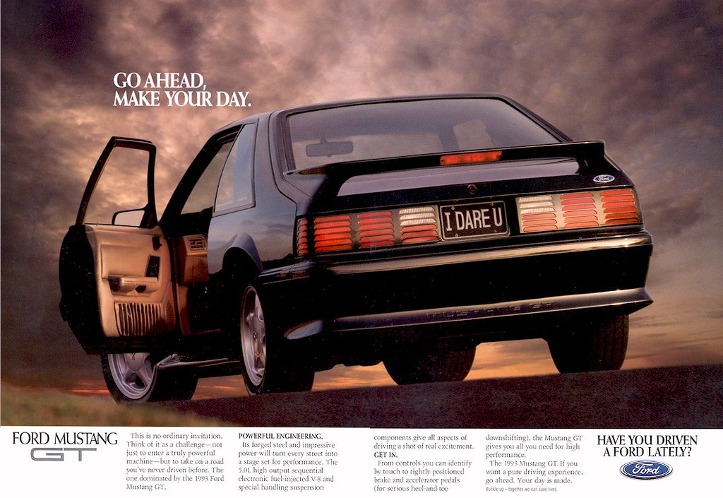 1992 Ford Mustang Gt Ad Usa Covers The Ford Mustang Gt