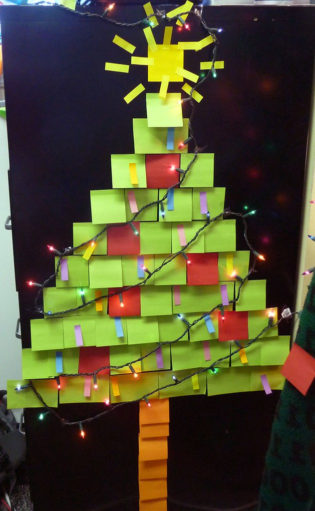 Post It Note Christmas Tree Post It Note Christmas Tree