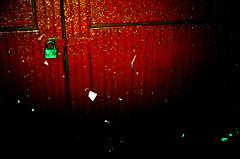 Stapled Red Door