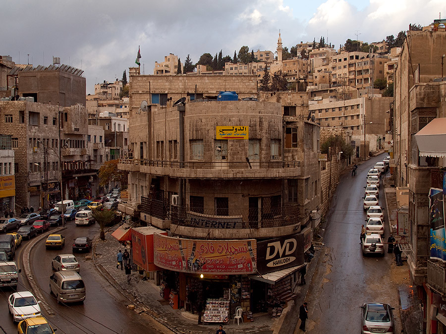"Downtown of Amman | View from ""Cliff Hotel"" 