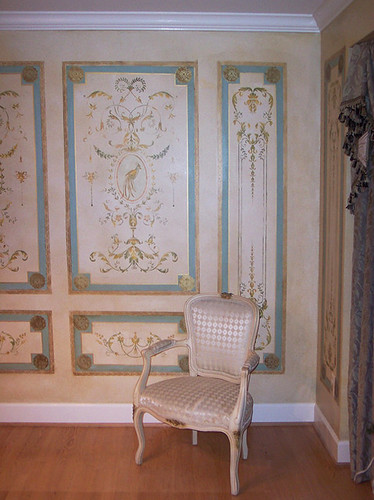 French Wall Covering : Stenciled french panels beautiful wall stencils by