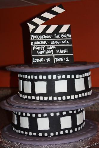 Movie Camera Birthday Cake