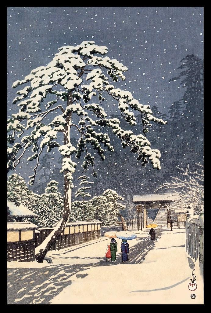 Quot Ikegami Honmon Ji Quot 1931 Woodblock Print By Hasui Kawase