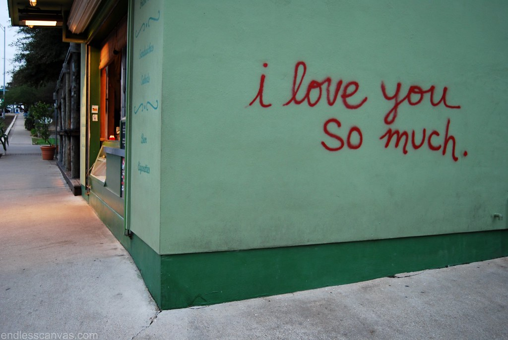 I love you so much austin texas for daily graffiti for Austin mural wall