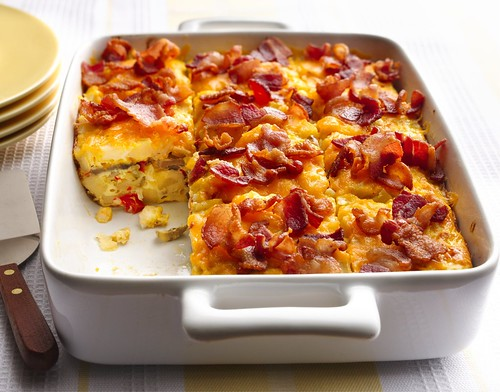 Bacon and Hash Brown Egg Bake Recipe | by Betty Crocker Recipes