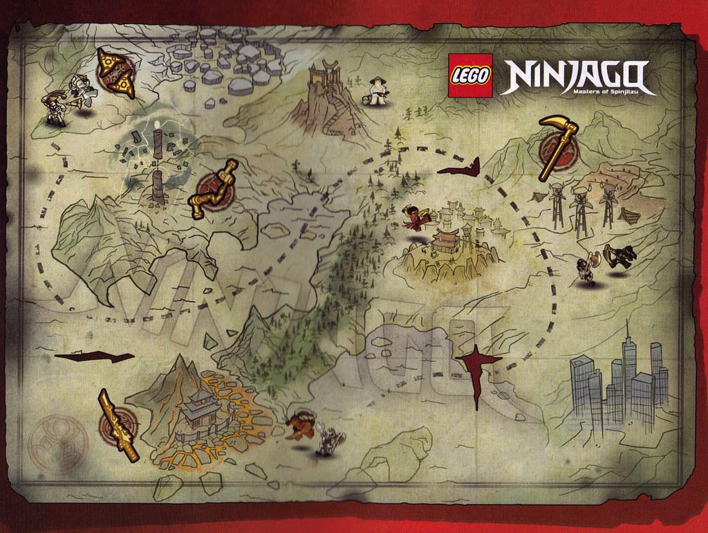 Ninjago Map lego tohst Flickr