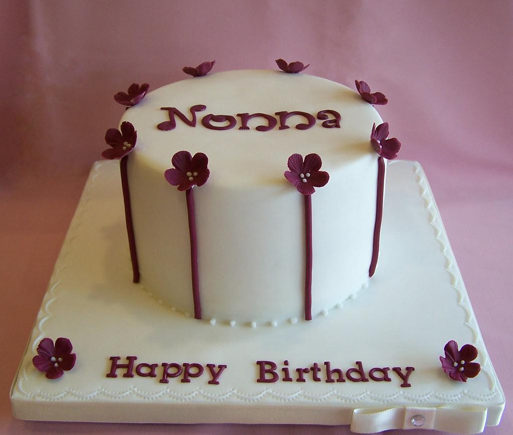 "6"" Birthday Cake With Burgandy"