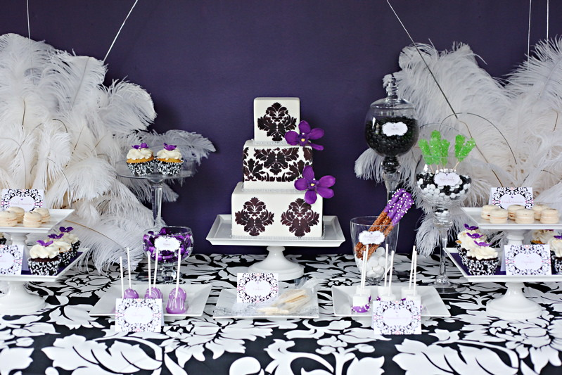 Damask Purple Dessert Table I Was Invited To Design A