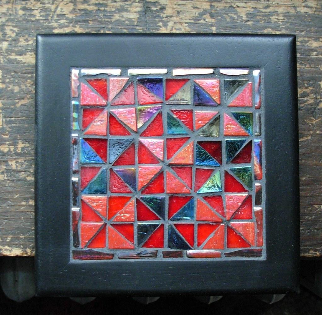 Black Glass Mosaic Wall Tiles
