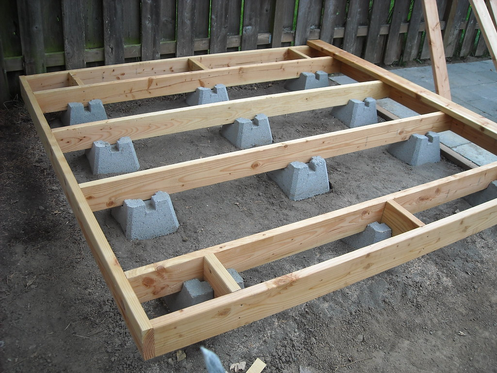 Dog Run Doggie Deck Foundation And Frame This Design