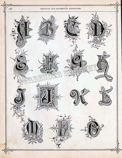 Alphabet A To O Victorian Calligraphy 1886 Flickr
