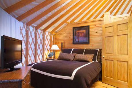Yurt Bedroom Shenandoah Crossing A Yurt At Shenandoah