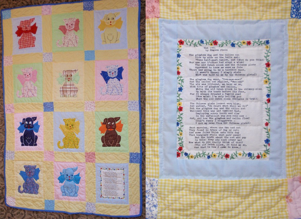 Baby Quilt The Gingham Dog And The Calico Cat W Poem B