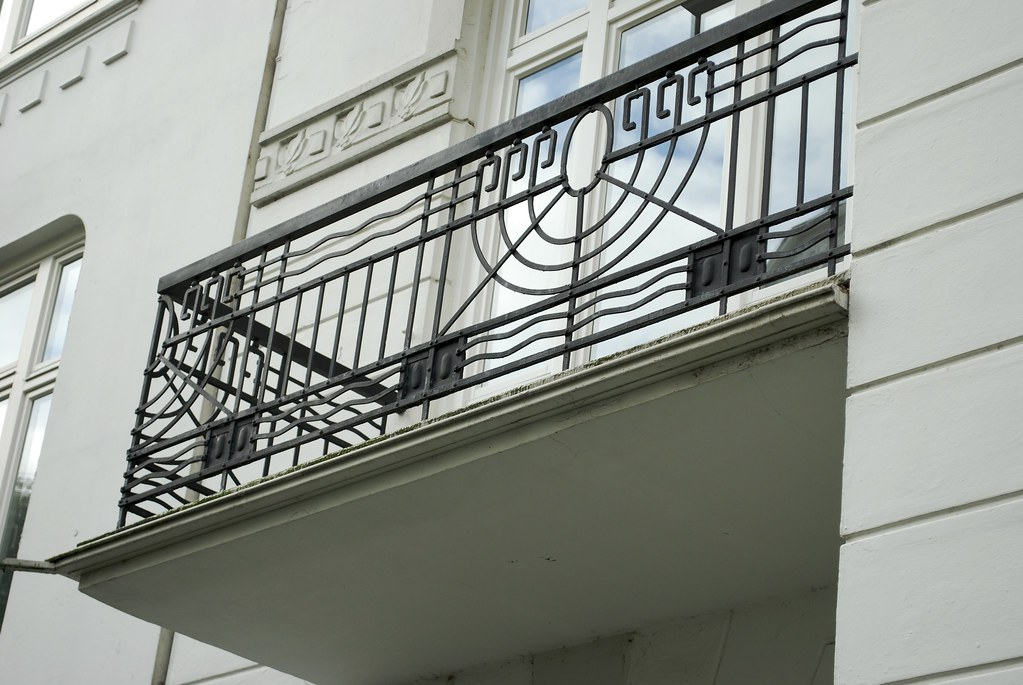 Art nouveau balcony eppendorf julian dobson flickr for Julian balcony