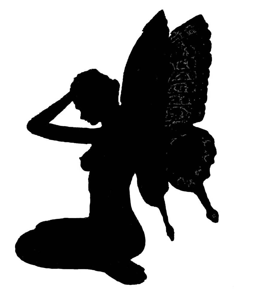 It's just a picture of Ambitious Fairy Silhouette Printable