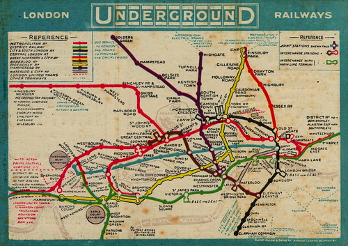 London Underground tube map, 1910 | by mikeyashworth