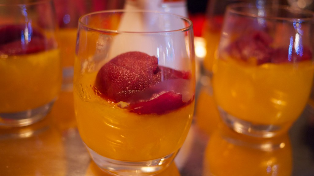 Clementine Jelly with Mulled Wine Sorbet | Simon Doggett ...