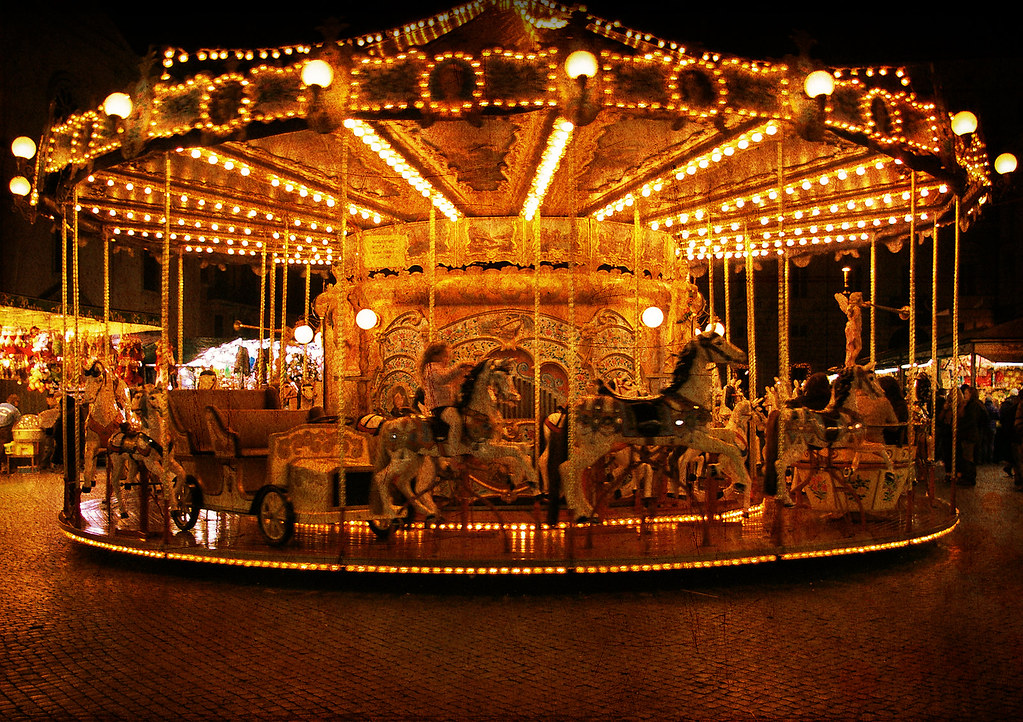 Merry Go Round A Merry Go Round In Piazza Navona In Rome