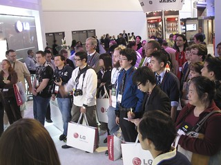 crowds at LG | by International CES