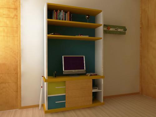 Muebles infantiles librero mueble para television for Muebles infantiles diseno
