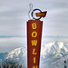 bowling sign on 3300 south january snow