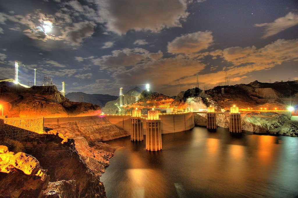 Hydroelectric Energy Hoover Dam Was Photographed On Aug