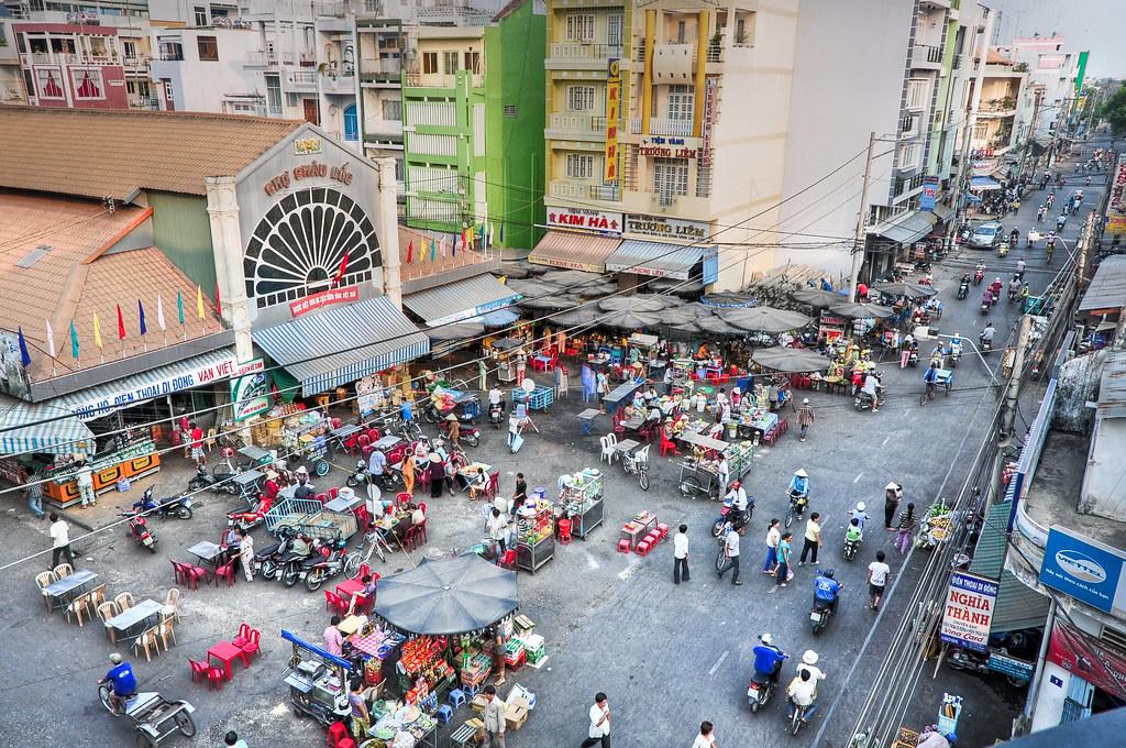 Market At Chau Doc Vietnam Asian Markets Are Wonderful