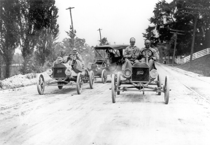 Ford Model T Race Cars During The New York To Seattle Tran