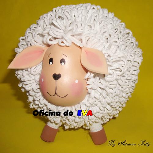 ovelha em 3D | Amei essa ovelhinha, fiz com o corpo com ...