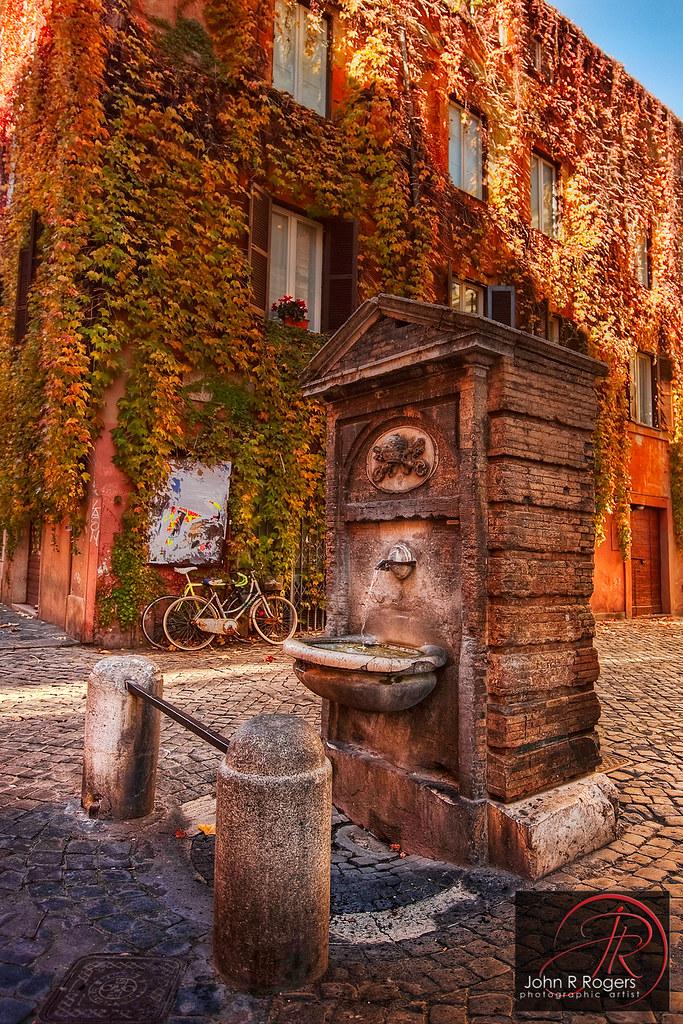 Roman Drinking Fountain Rome Obviously Has No Shortage