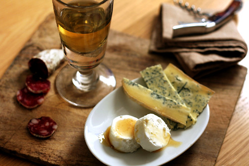 white wine & cheese, and chestnut honey | by David Lebovitz