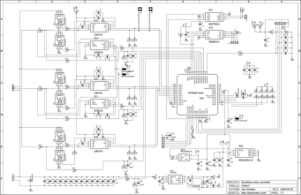 Brushless Motor Controller Schematic Dan Strother Flickr