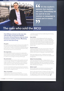 """The man who sold the MCG!"" Succeed Magazine 