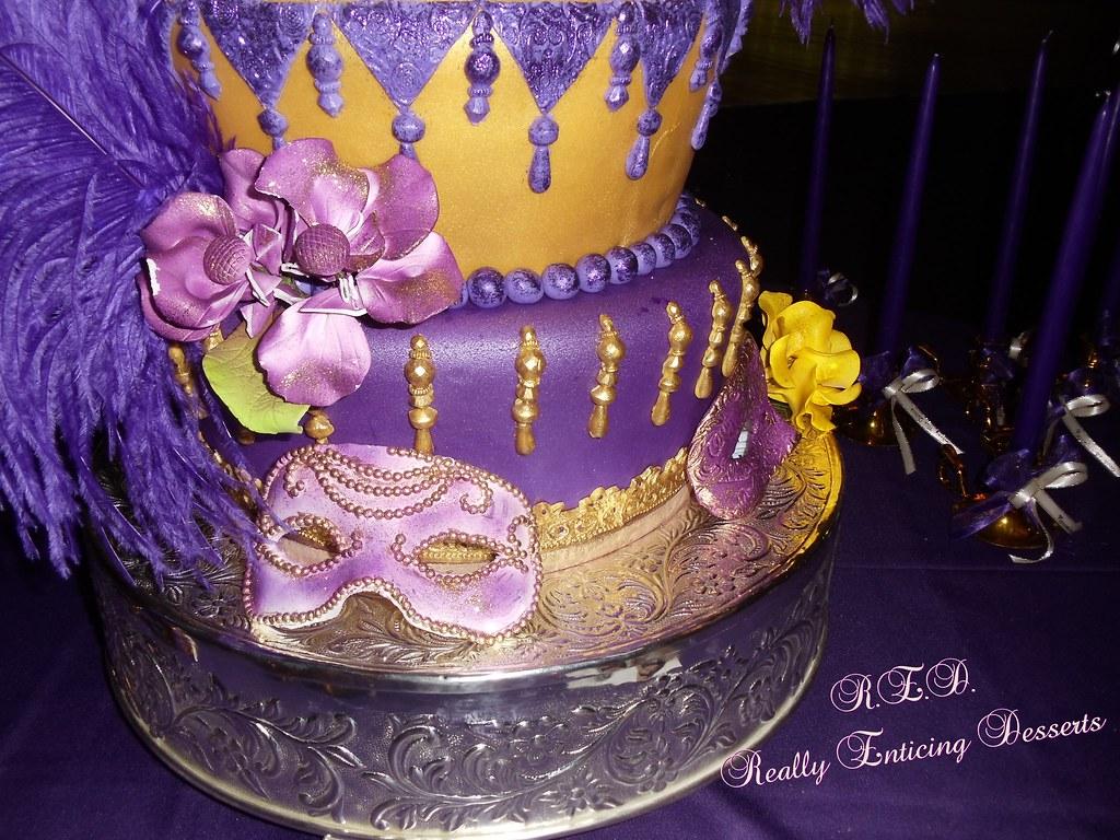 MARDI GRAS THEMED CAKE...