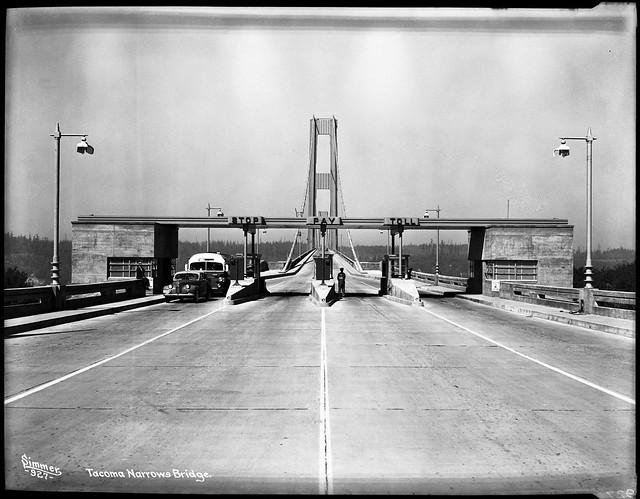 Tacoma Narrows Bridge Toll Booth 1940 Flickr Photo