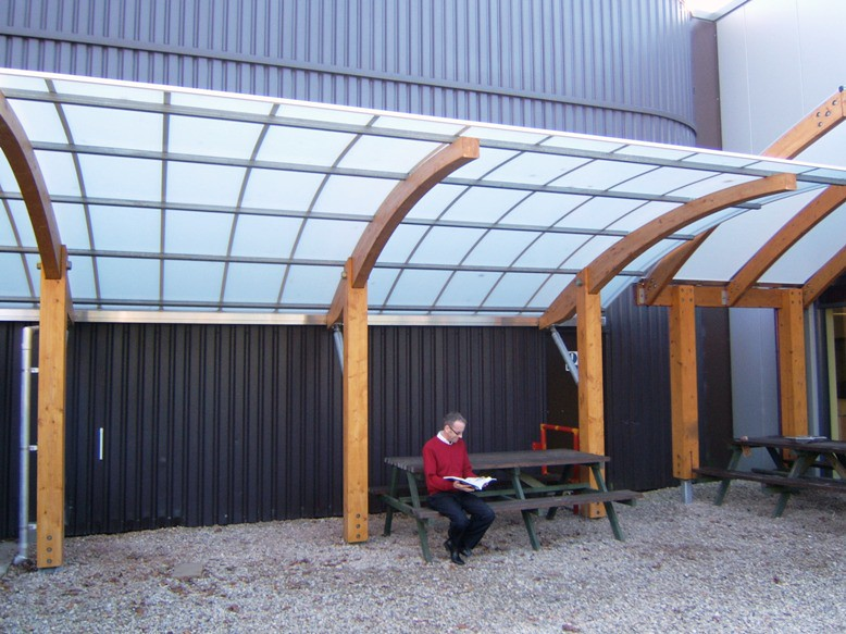& New Timber Cantilever Shelter | www.fordingbridge.co.uk Fordu2026 | Flickr