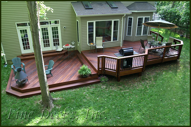 Multi level ipe deck flickr photo sharing for Multi level deck plans