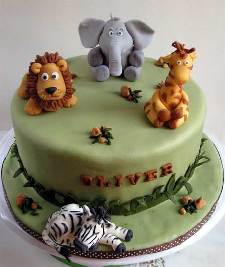 Safari Animals Cake Safari Animal Theme