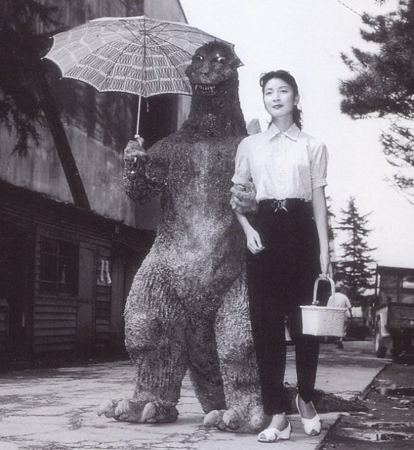 Godzilla And Momoko Kchi On The Set Of Gojira 1954  Flickr-5908