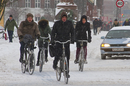 Winter Traffic Copenhagen Quartet | by Mikael Colville-Andersen