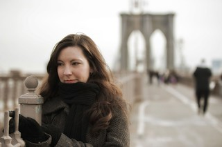 My wife on the Brooklyn Bridge | by Dave DiCello